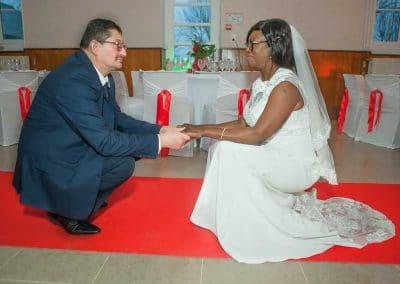 Pose mariés Azé