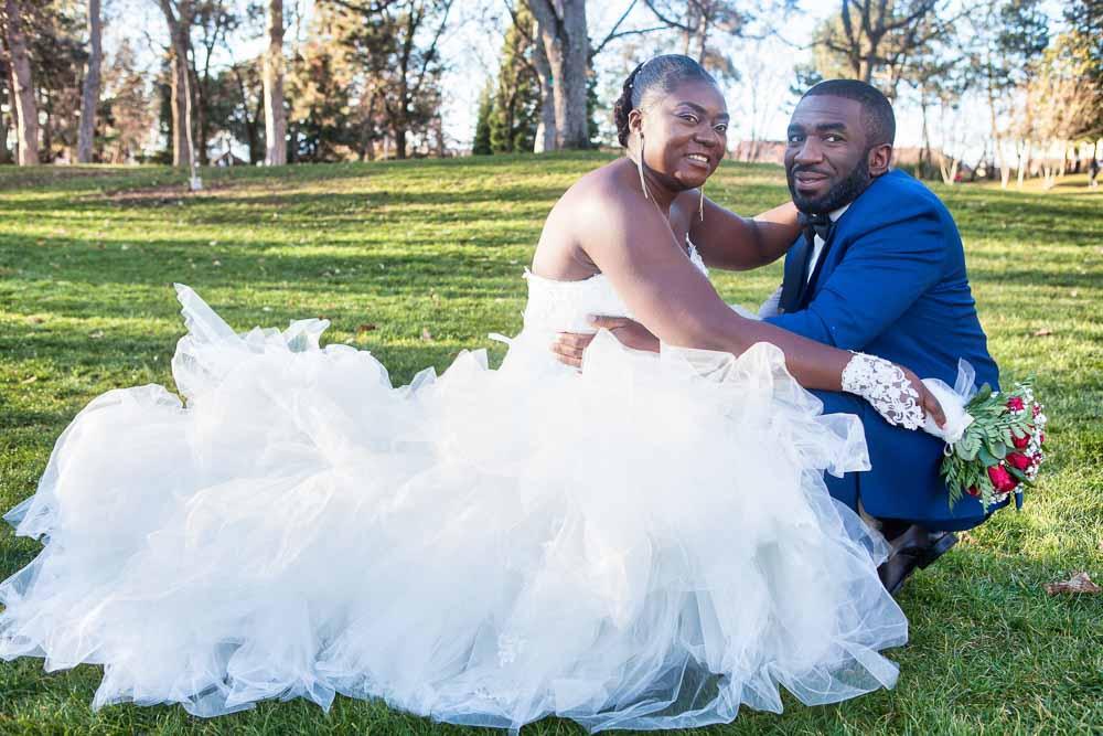 Pose mariés parc Ambilly
